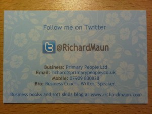 Richard Maun Twitter Business Cards