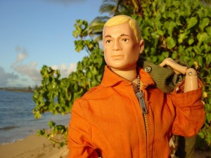 Action Man ...in his birthday jump suit! Who says orange isn't styish?