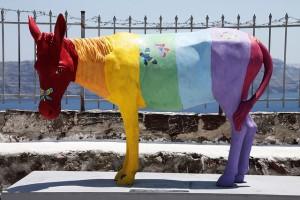 It's colourful, but it's still a donkey...